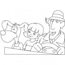 Coloriage Inspecteur Gadget, Sophie et Finot