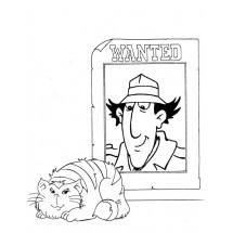 Coloriage Inspecteur Gadget et Mad Chat