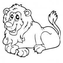Coloriage Lion rigolo