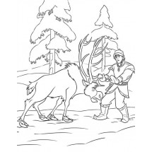 Coloriage Kristoff et Sven