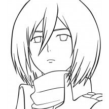 Coloriage Mikasa Ackerman #2