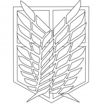 Coloriage Le logo du bataillon d'exploration