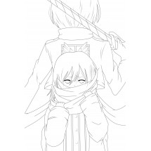 Coloriage Mikasa jeune