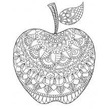 Coloriage Mandala Pomme