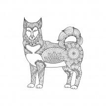 Coloriage Mandala Loup
