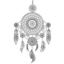 Coloriage Mandala Attrape rêve indien