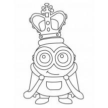 Coloriage Minion roi