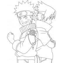 Coloriage Naruto et Sasuke