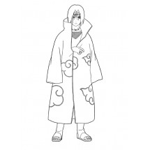 Coloriage Itachi Uchiwa