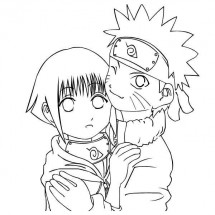 Coloriage Naruto et Hinata
