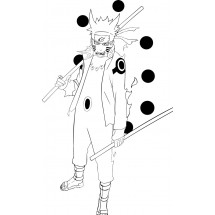Coloriage Naruto pleine puissance