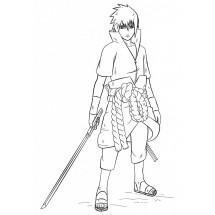 Coloriage Uchiwa Sasuke