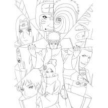 Coloriage Les membres de L'Akatsuki
