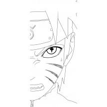 Coloriage Naruto en mode ermite