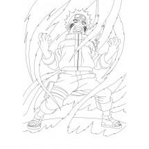 Coloriage Naruto se transforme en Kyubi