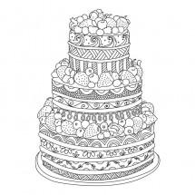 Coloriage Gâteau géant