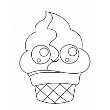 Coloriage Crème glacée Kawaii