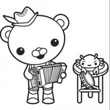 Coloriage Barnacles fait de la musique