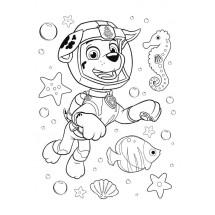 Coloriage Marcus sous l'eau