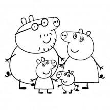 Coloriage La famille Pig