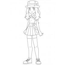 Coloriage Serena
