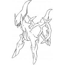 Coloriage Pokémon Arceus