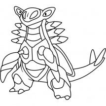 Coloriage Pokémon Armaldo
