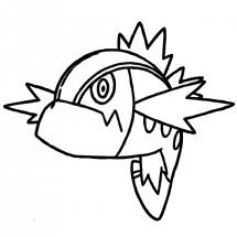 Coloriage Pokémon Bargantua Rouge