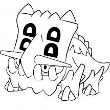Coloriage Pokémon Bastiodon