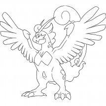 Coloriage Pokémon Boréas forme Totémique