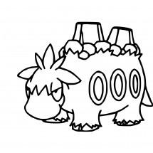 Coloriage Pokémon Camérupt