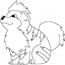 Coloriage Pokémon Caninos
