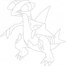 Coloriage Pokémon Carmache