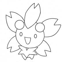 Coloriage Pokémon Ceriflor
