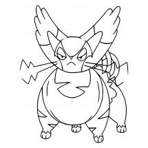 Coloriage Pokémon Chaffreux