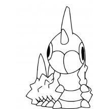 Coloriage Pokémon Chenipotte