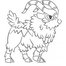 Coloriage Pokémon Chevroum