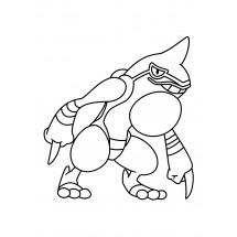 Coloriage Pokémon Coatox