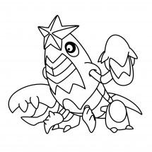 Coloriage Pokémon Colhomard