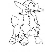 Coloriage Pokémon Couafarel coupe Demoiselle