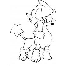 Coloriage Pokémon Couafarel coupe Etoile