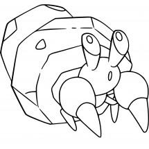 Coloriage Pokémon Crabicoque