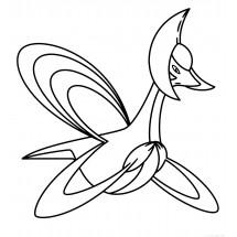 Coloriage Pokémon Cresselia