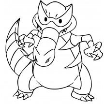 Coloriage Pokémon Crocorible