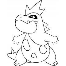 Coloriage Pokémon Crocrodil