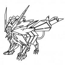 Coloriage Pokémon Necrozma forme Crinière du Couchant