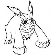 Coloriage Pokémon Darumacho