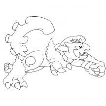 Coloriage Pokémon Démétéros forme Totémique