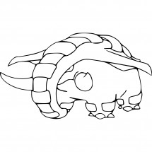 Coloriage Pokémon Donphan
