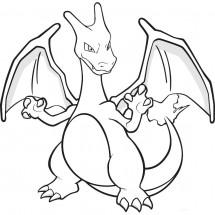 Coloriage Pokémon Dracaufeu